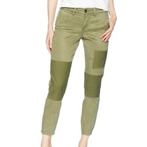 NYDJ | NWT Patchwork Skinny Chino Pants in Olive